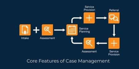 Graphic: case management workflow