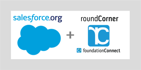 Logo Images for Salesforce.org and roundCorner foundationConnect