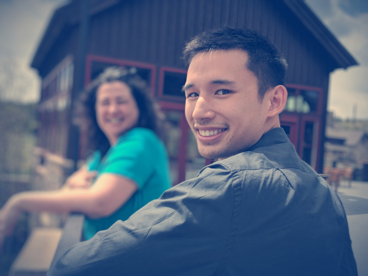Photo: Exponent Partners Customer Success Manager Damaris and Services Engineer Michael Smiling at You