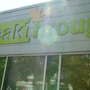 Photo: Breakthrough marquee on Familyplex building in Chicago