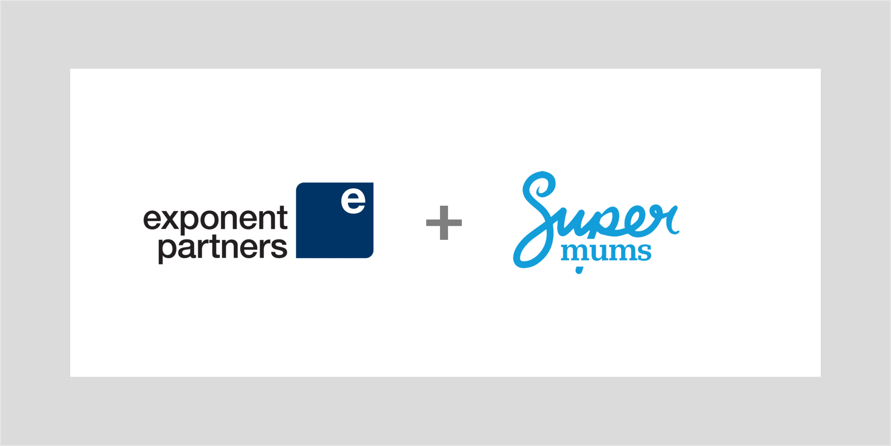 Graphic: Exponent Partners SuperMums logos