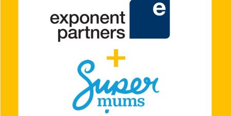 Photo: Logos for Exponent Partners plus Supermums