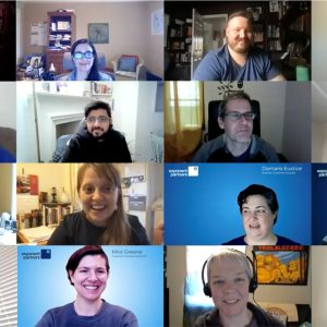 Photo: Collage of Video Conference Staff Meeting