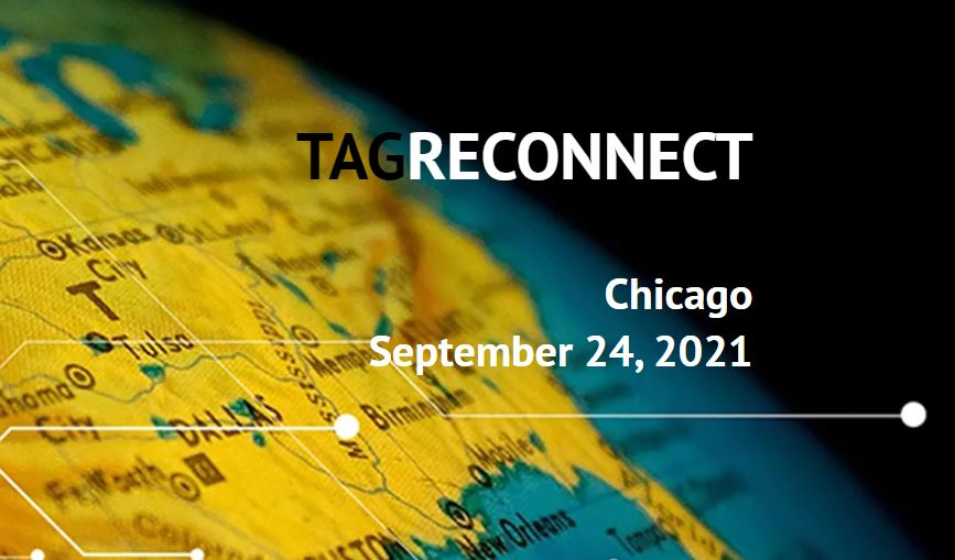 Photo: map of United States with TAGReconnect text