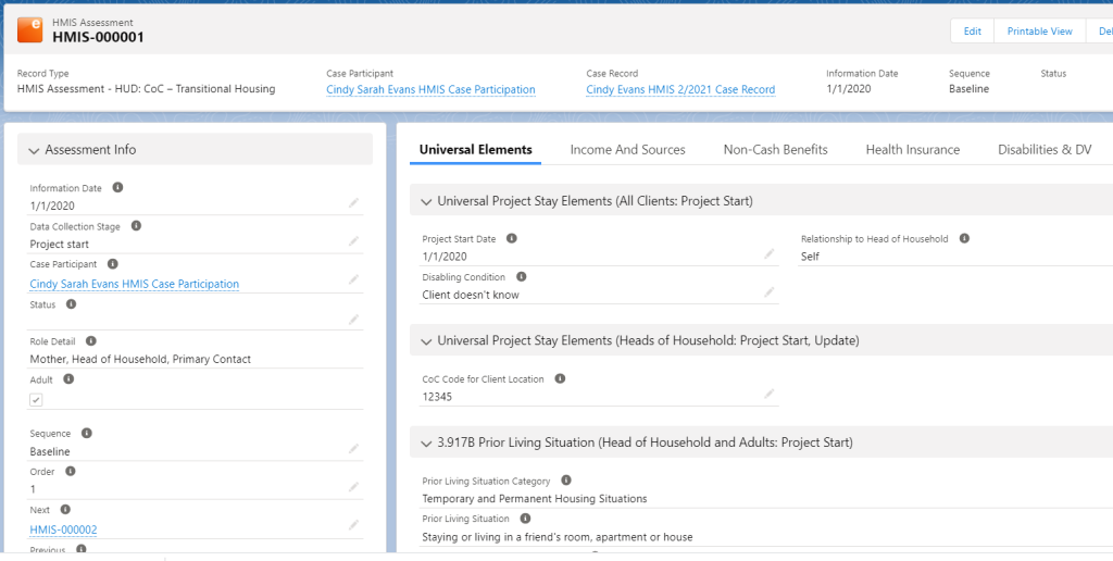 Photo of Exponent Case Management software screen